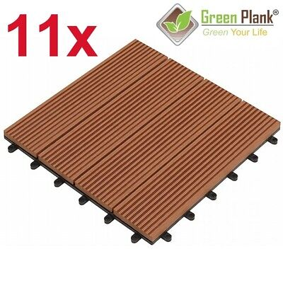 K = 0,99 m² WPC KLICK-FLIESE 30x30 HOLZ KUNSTSTOFF VERLEGUNG (Holz Plank)