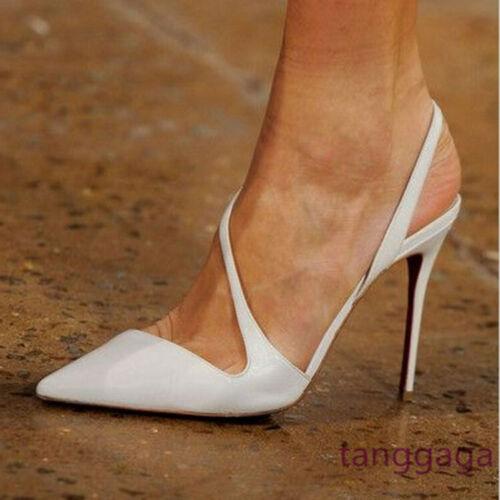 White Pointed Heels