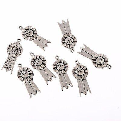 Rosette 1st Word Beads Tibetan Silver Charms Pendant DIY Bracelet 22*12mm 10pcs
