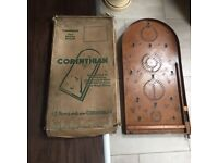 Old wooden bagatelle game with original box
