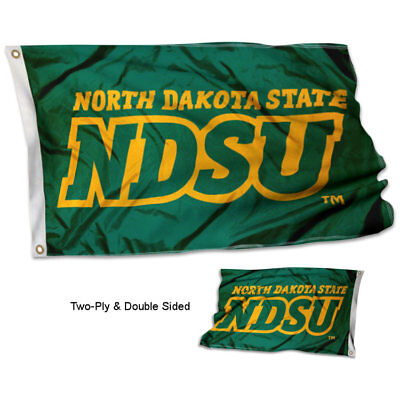 NDSU Bison Flag Double Sided 2-Ply 3x5 Foot Outdoor Banner