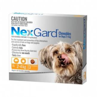 Nexgard (Available for All Dog Sizes 2kg+) (3 or 6 Chew Packs)