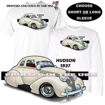 Hudson Terraplane Model 1937 Vintage Hot Rod Classic Car Art T Shirt  Vintage Hot Rod