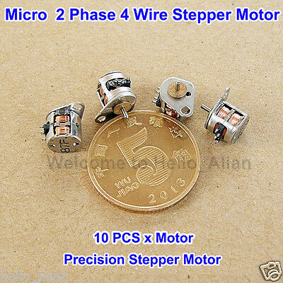 10pcs 6mm 2-phase 4-wire Micro Stepper Motor Mini Stepping Motor With Rod Diy