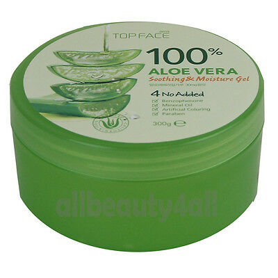 100% Pure ALOE VERA SOOTHING & MOISTURE GEL 300ml for Skin Care - Made in Korea