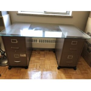 Filing cabinets on wheels with glass top