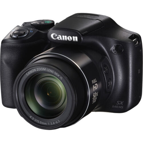Canon PowerShot SX540 HS Digital Camera - Black