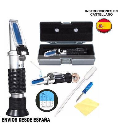 Glicol Refractometro Anticongelante de coche Batería Acid Engine Coolant Tester