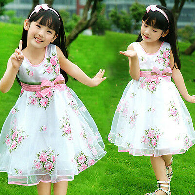 Kids Dresses For Girls Princess Flower Casual Sleeveless Cute Party Dress Child - Casual Dress For Girls