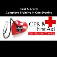 Emergency First Aid/CPR C/AED Training/Certification