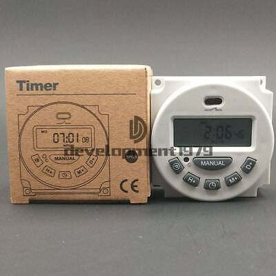 12v110v220v Digital Lcd Relay Switch Weekly Programmable Electronic Time Timer