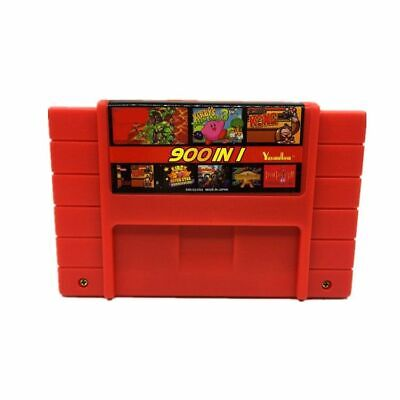 900 in 1 Multi Cartridge 16 Bit Retro Game Console SNES PAL NTSC EarthBound