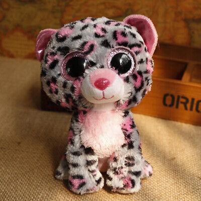 "6"" Ty Beanie Boos Tasha Leopard Glitter Eyes Plush Stuffed Girl Toys no Tag"