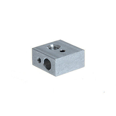 2pcs Heater Block For Reprap Makerbot 3d Printer Mk7 Mk8 Extruder Hotend Screw