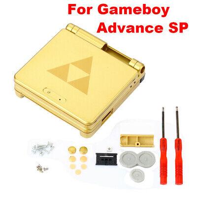 Game Boy Advance SP Replacement Housing Shell Gold Zelda Triforce Glass Lens, usado comprar usado  Enviando para Brazil