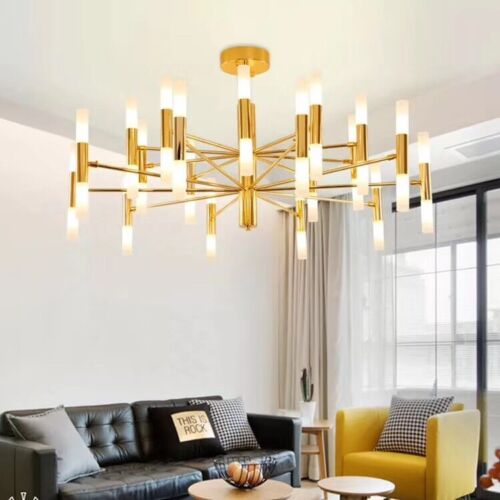Modern Gold Black Metal Glass Branch Chandelier Pendant Ligh