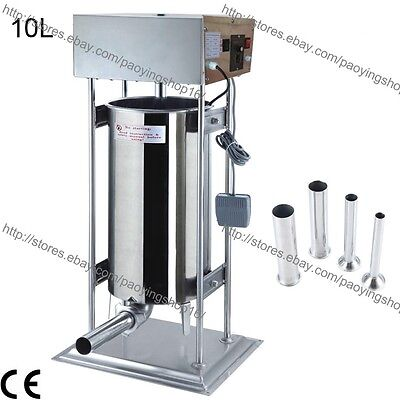10l Electric Auto Sausage Stuffer Sausage Salami Maker Sausage Filler Machine