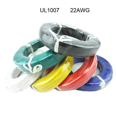Flexible Stranded Of Ul 1007 12 Colors 22 Awg Electric Wire Cable Various Length