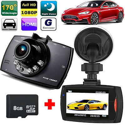 "HD 1080P 170° 2.7"" LCD Car Dash Cam DVR Video Driving Camera Accident Recorder"