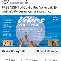 FREE NIGHT of Coed Rec Volleyball!!