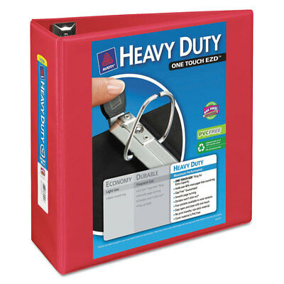 Avery Heavy-duty View Binder Wlocking 1-touch Ezd Rings 4 Cap Red 79326