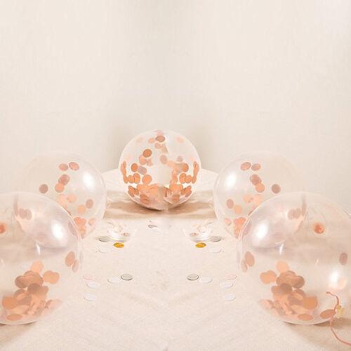 как выглядит Воздушный шар для праздника или вечеринки US! Rose Gold Confetti FoilBalloons 12