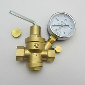 1 1 4 water pressure reducing valve line relief valve with guage reducin. Black Bedroom Furniture Sets. Home Design Ideas