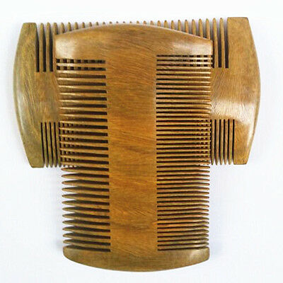 Handmade Green Sandalwood without Static  Pocket Hair Comb Beard Mustache Comb - Beards Without Mustache