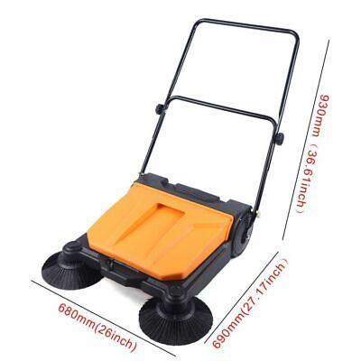 26 Industrial Hand-push Sweeping Sweeper Walk-behind Floor Sweeper 2720h 15l