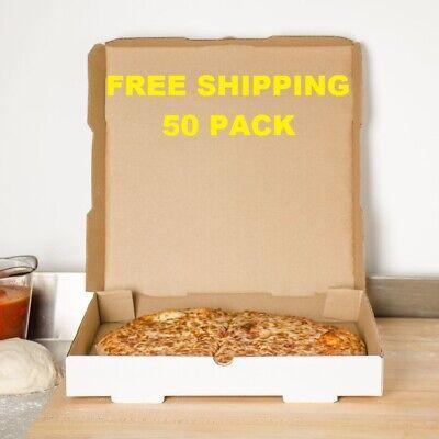 50-pack 14 X 14 X 1 34 White Corrugated Plain Pizza Bakery Box