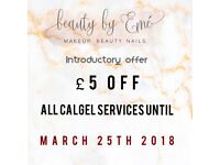 CALGEL nail services - £5 off all nail treatments