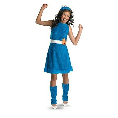 COOKIE MONSTER Juniors Teen Child Costume Sesame Street | Disguise 11482 (Cookie Monster Costume Kids)