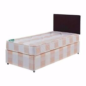 **CLASSIC LOOK **- Single/Small Double Bed with 9inch Sprung-Based Mattress - RRP£119!