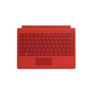 NEW Microsoft Surface 3 Type Cover (Bright Red) & Wireless Adapter - Keyboard Accessory - A7Z-00004