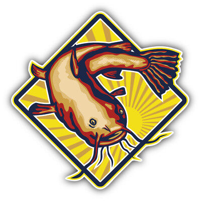 Catfish Label Car Bumper Sticker Decal  -  3'' or 5''
