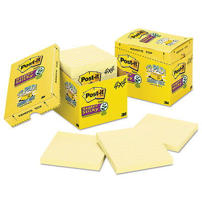Post-it Canary Yellow Note Pads Lined 4 X 4 90-sheet 12pack 67512sscp