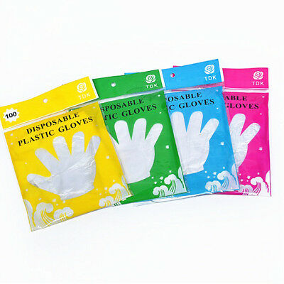 Disposable Plastic Gloves 100-Pack Large Size Handling Painting Cleaning Labs