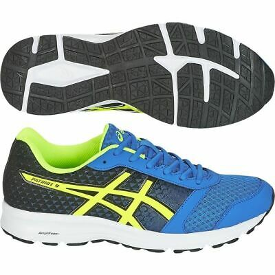Asics Mens PATRIOT 9 Trainers Running Gym Shoes Classic Sports Sneakers Blue