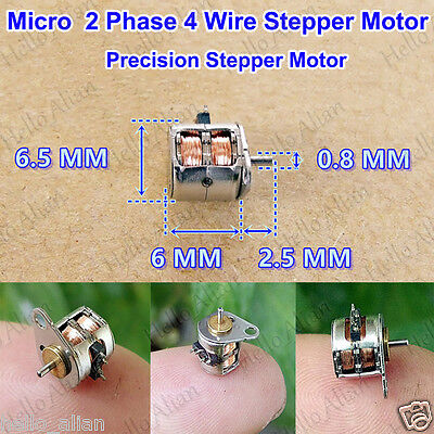 Micro Mini 6.5mm*6MM 2-Phase 4-Wire precise Stepper Motor Tiny Stepping
