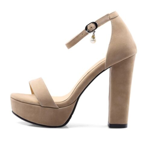 20e0a9e482b2 Womens Platform Open Toe Strappy Sandals Block High Heel Evening Party New  Shoes