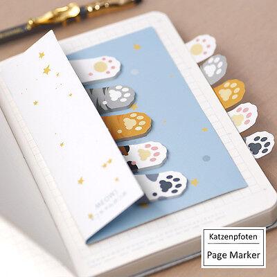 Design Haftnotizen | Page Marker | Stick Marker | Sticky Notes, «Katzenpfoten»