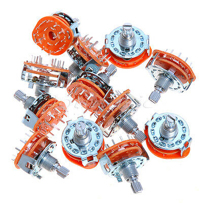 12pcs Brand New Rotary Switch Selector 2-Pole 6-Position 12 Position Rotary Switch