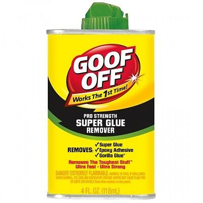 Goof Off Fg677 Super Glue Remover  4Ounce  New  Free Shipping