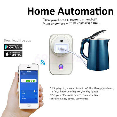 New US Plug Remote Control Timer Timing Switch WiFi Smart Power Socket Outlet