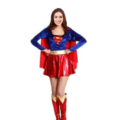 Supergirl Kostüm Petticoat Superheld Superhero Superwoman Frau Fasching Karneval
