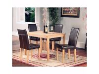 70% SALE ON:: BIG SALE:: NEW! Solid Wood Robert Dining Table/Set With 4 Upholstered chairs 189 ONLY