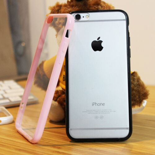 Ultra Thin Hybrid Shockproof Hard Case Clear PC Cover for iPhone X 5s 6 7 8 Plus