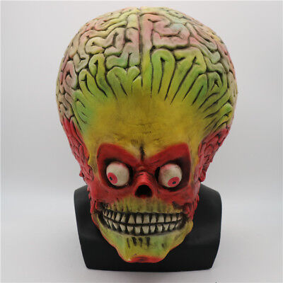 USA Halloween Funny Alien Mask Full Head Latex Martian Scary Cosplay Party Prop (Funny Head Masks)