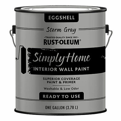 Rust-Oleum 332143 Fully Home Eggshell STORM GRAY Interior Wall Paint gallon