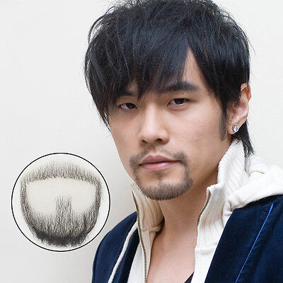 New 100% Human Hair Reusable Fake Mustache Beard Perfect for Theater and - Fake Moustache And Beard
